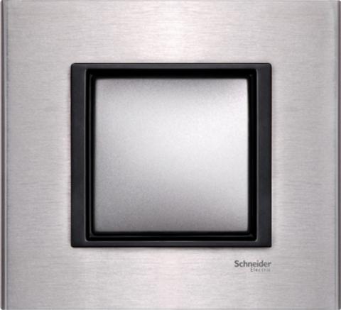 Рамка на 1 пост. Цвет Серебристый алюминий. Schneider electric Unica Class. MGU68.002.7A1