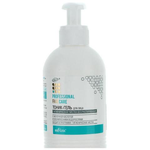 Тоник - гель для лица «Гигиеническая чистка без распаривания» с молочной кислотой и океаническими водорослями , 300 мл ( Professional Face Care )