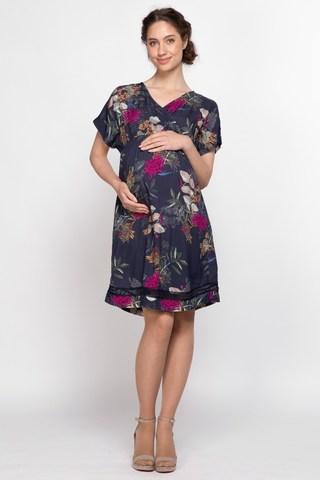 Платье для беременных 10125 темно-синий