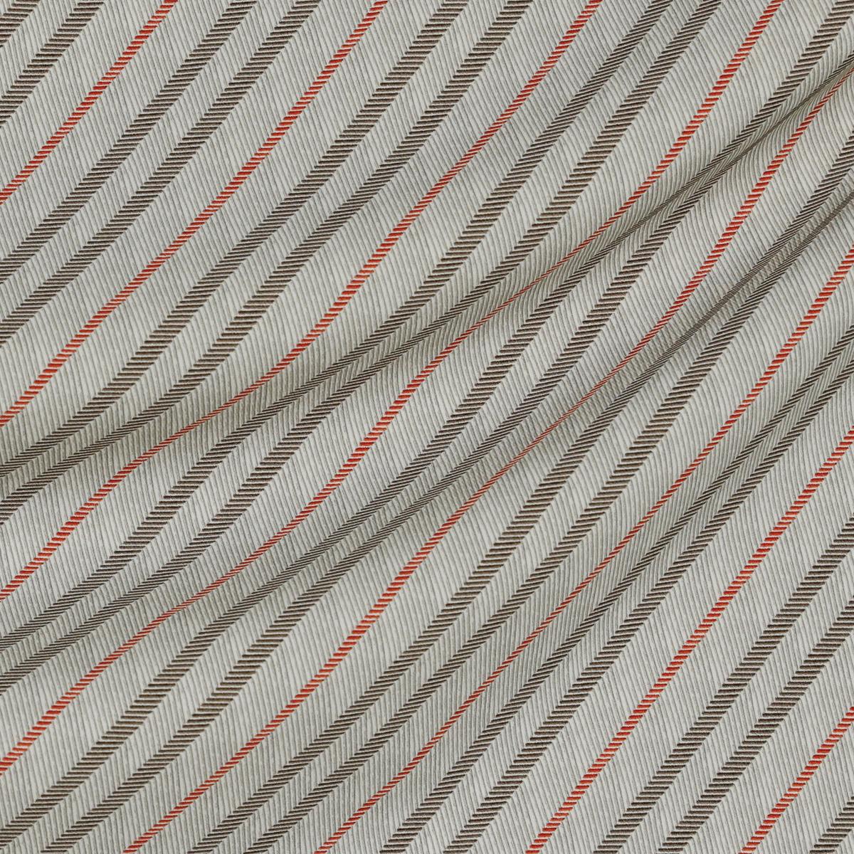 Плательно-костюмное вискозное полотно в оранжевую полоску