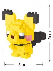Конструктор Wisehawk & LNO Покемон Пичу 92 детали NO. 251 Pichu Pokemon Gift Series