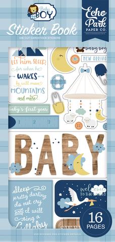 Блокнот со стикерами Echo Park Sticker Book Baby Boy