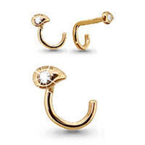 70525А- Пирсинг для носа из золота с фианитом