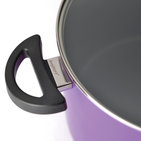 Кастрюля с крышкой 24см 6,6л (фиолетовая) Eclipse