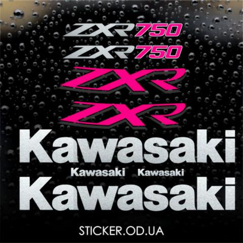 Набор виниловых наклеек на мотоцикл Kawasaki ZXR 750 1993