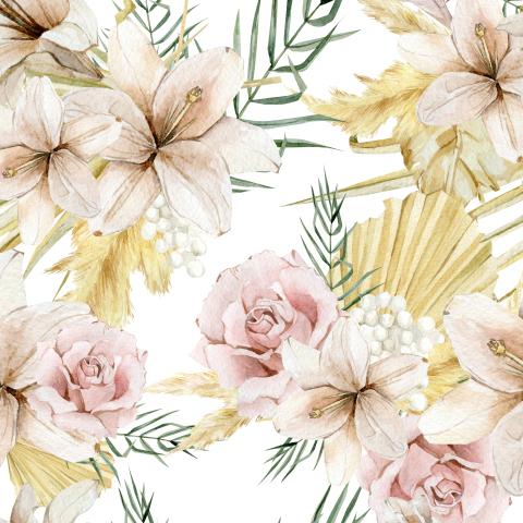 Бохо тропики в цветах