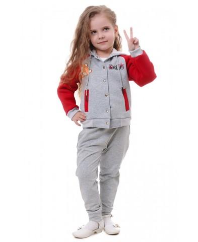 Бомбер с капюшоном для девочки детский