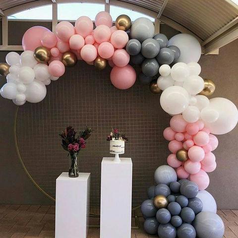 Разнокалиберная арка из воздушных шаров №1