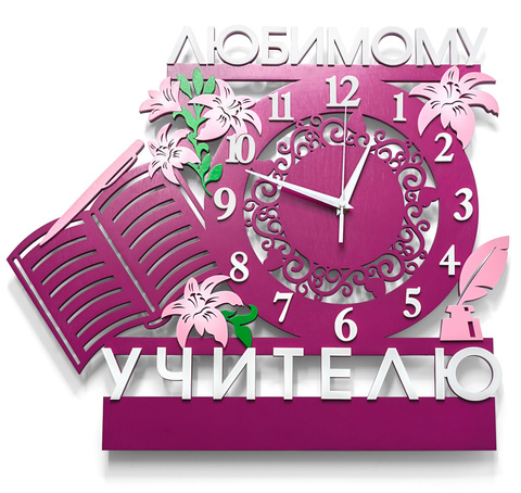 Часы ДекорКоми из дерева в подарок