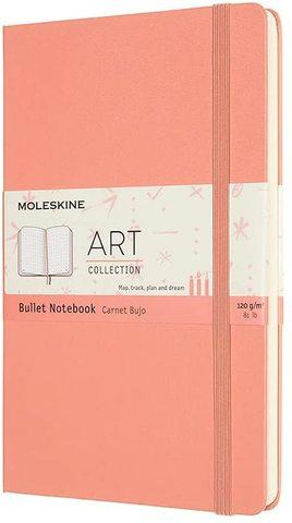 Блокнот Moleskine Art Bullet (ARTBULNT3D20) Large 130х210 мм 160 стр пунктир розовый коралл
