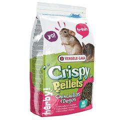 Корм для шиншилл и дегу, Versele-Laga Crispy Pellets Chinchillas & Degus, гранулированный