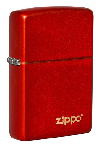 Зажигалка Zippo Classic, с покрытием Metallic Red, латунь/сталь, красная, матовая, 38x13x57 мм