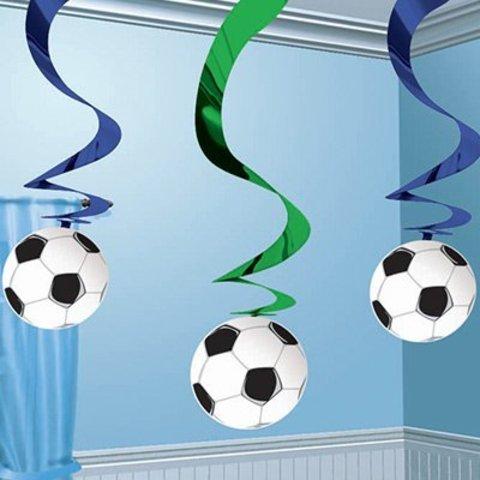 1501-0846 Спирали фольгированные Футбол, 5 штук