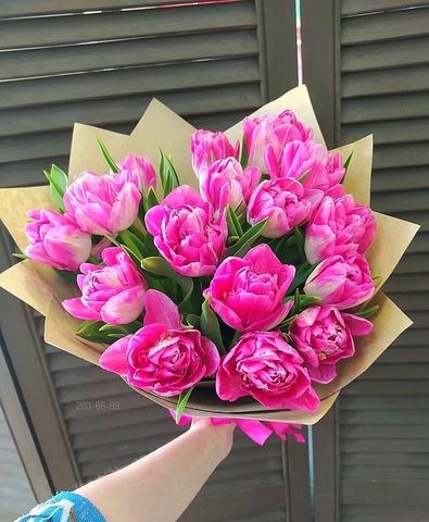 17 тюльпанов в оформлении #888