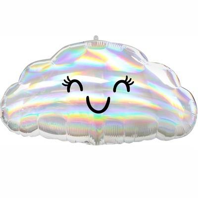 Фольгированный шар, Облако с глазами, переливы