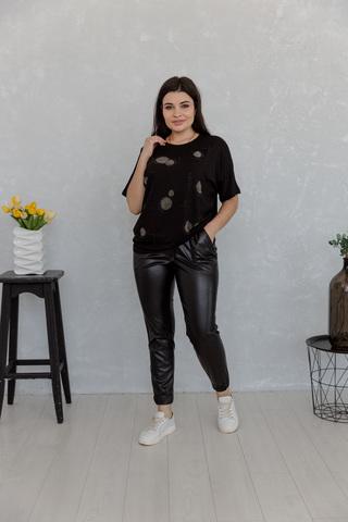 Стильные кожаные брюки