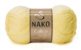 Пряжа Nako Calico лимонный 4492