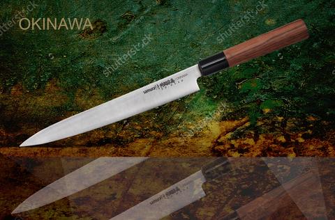 SO-0110 Нож кухонный стальной Янагиба Samura Okinawa