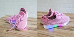 Обувь дет. № 4 Кроссовки Светящиеся Розовые