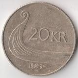 K6040, 1994, Норвегия, 20 крон  27,5 мм., 9,9 гр.