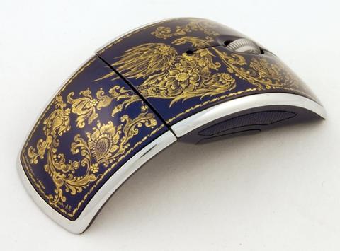 Мышь компьютерная роспись золотом