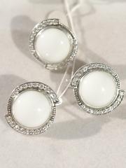 Рада (кольцо + серьги из серебра)