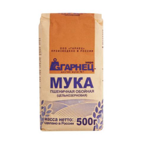 Garnec Мука пшеничная хлебопекарная ц/з 500 гр