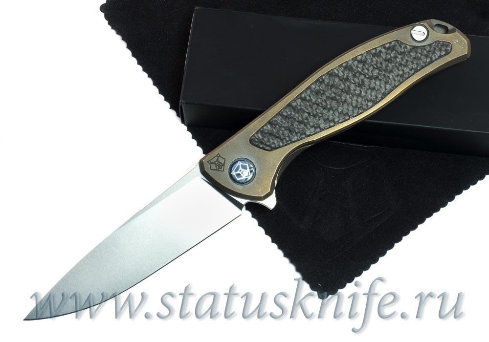 Нож Широгоров Флиппер 95 M390 CF накладка Карбон выборки