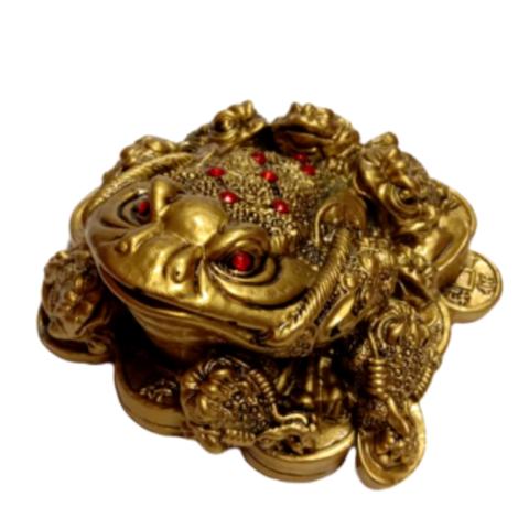 Денежная жаба с детками полистоун