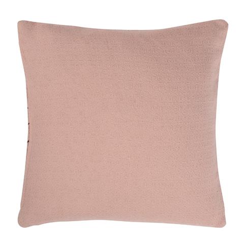 Подушка декоративная cтеганая из хлопка цвета пыльной розы из коллекции Ethnic, 45х45 см