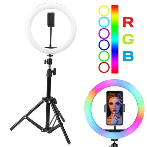 Кольцевая лампа 26 см со штативом Ring Fill Light LED MJ26 RGB