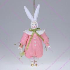 Ёлочная игрушка Зайка с аксессуаром