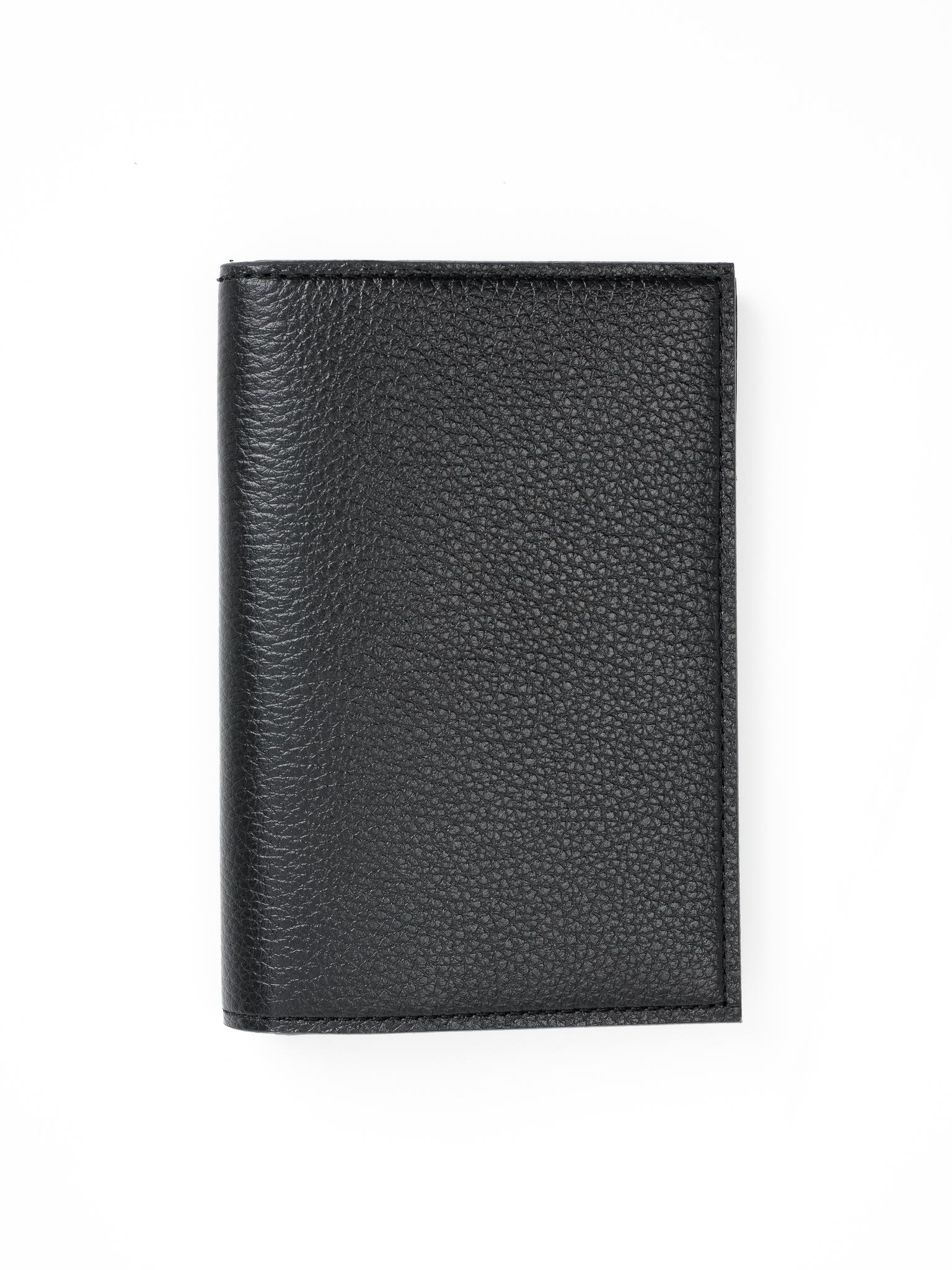 Обложка для паспорта с карманами   Чёрный