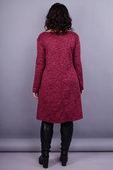 Альбіна. Повсякденна сукня великих розмірів. Бордо.