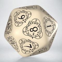 D20 Level Counter Beige & black Die (1)