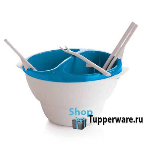 Набор Аллегро для фондю с 4 вилочками в голубом цвете