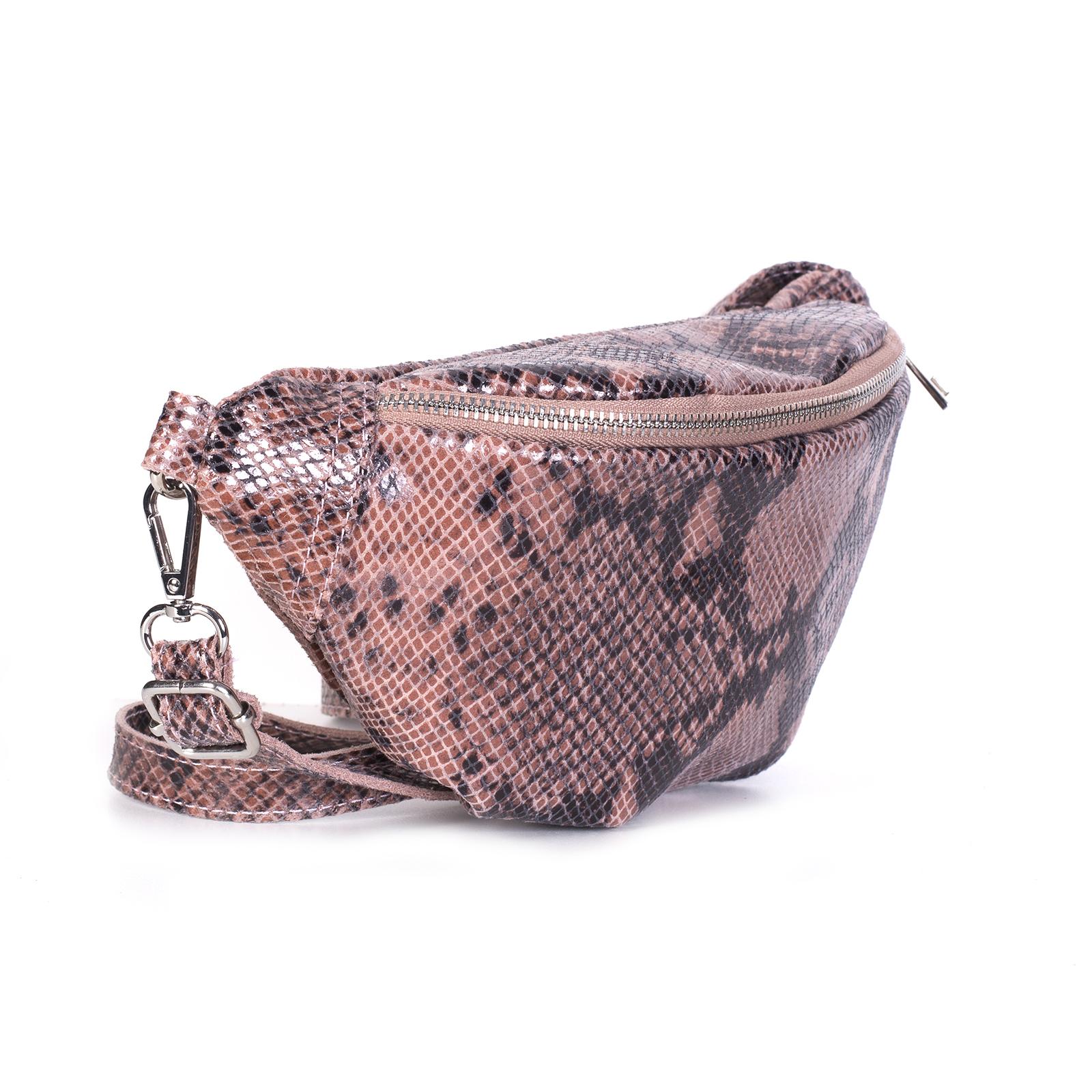Fanny pack, UNO, Lauryn (розовый питон)