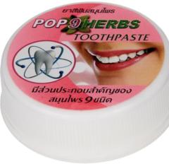 Концентрированная растительная  зубная паста 9 трав Toothpaste, ТМ POP 9 Herbs