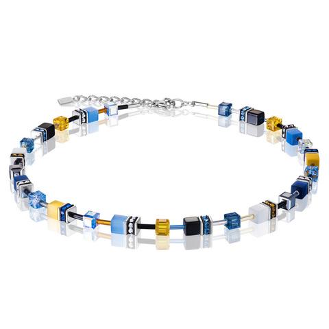 Колье Coeur de Lion 2838/10-0701 цвет голубой, жёлтый