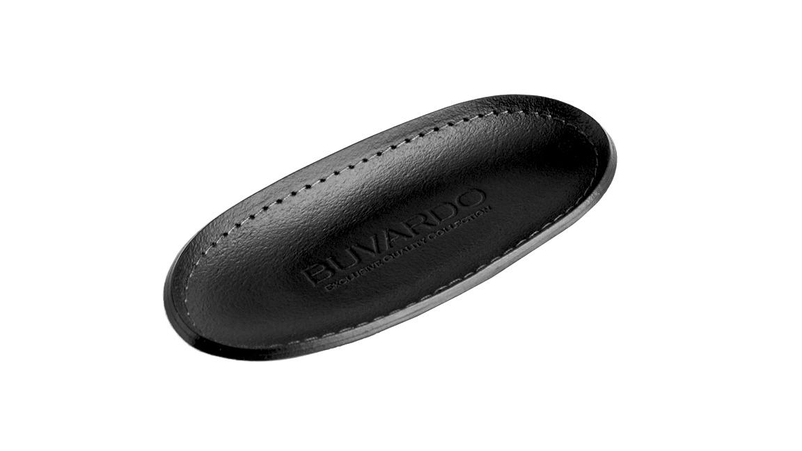 Лоток для мелочей серии Бизнес кожа Cuoietto цвет черный. Удобная очечница.