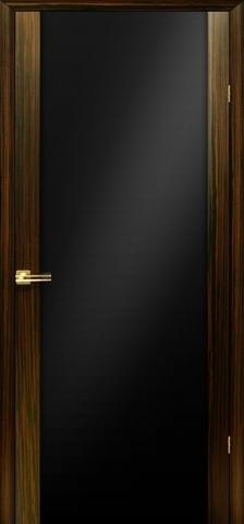 Дверь Модерн (зебрано «тёмное стекло») (темное дерево, остекленная шпонированная), фабрика LiGa