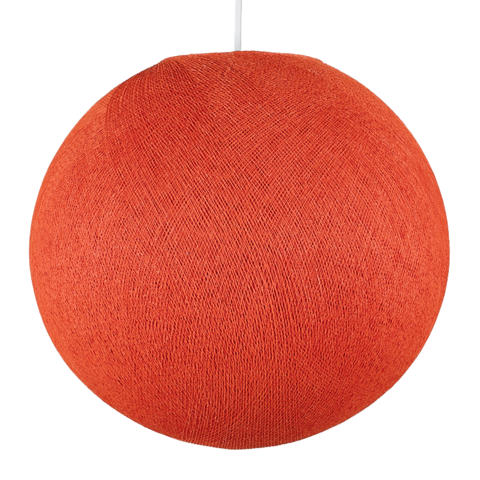 Хлопковый шар - подвес Терракот