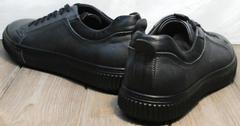 Кеды с черной подошвой мужские Komcero 9K9154-734 Black-Grey