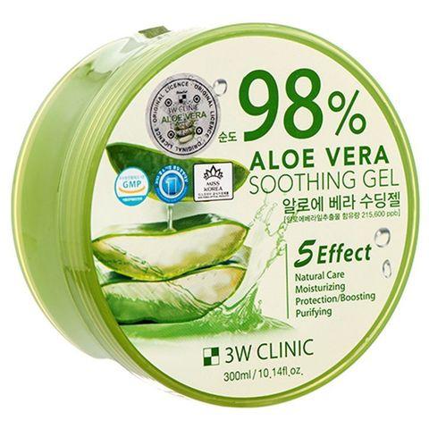 Универсальный гель для лица и тела 3W Clinic с 98% натурального сока алоэ 300 мл