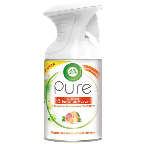 Освежитель воздуха Air Wick Pure 5 эфирных масел Апельсин и грейпфрут 250 мл (сухое распыление)