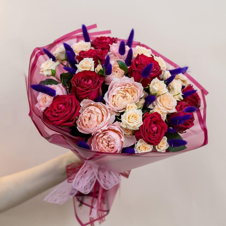 Авторский букет из роз