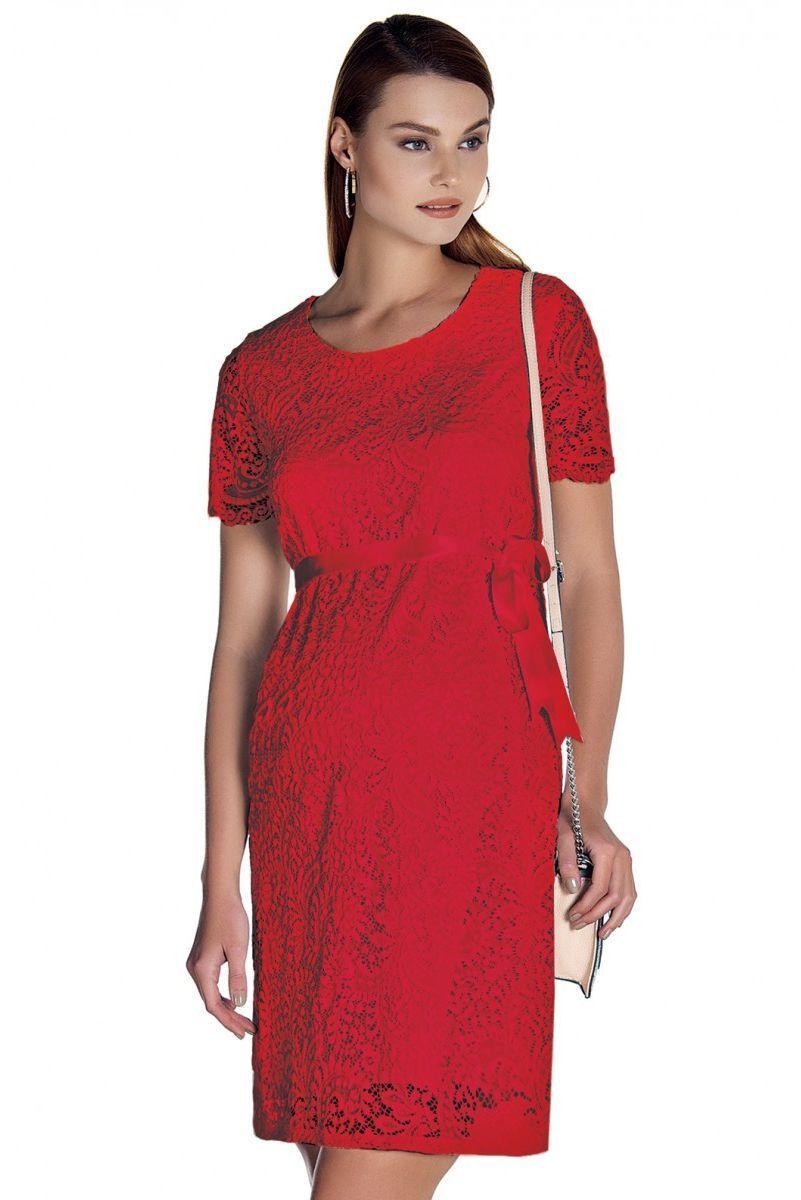 Платье для беременных 07858 красный
