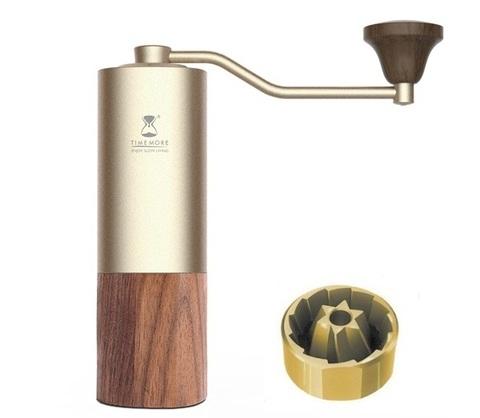 Кофемолка Timemore Chestnuts G1S золото с титановыми жерновами