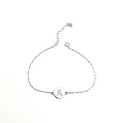 17037- Браслет из серебра с подвеской буквой K