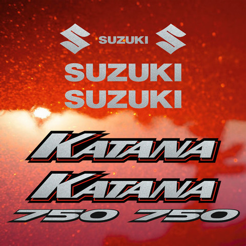 Набор наклеек на мотоцикл SUZUKI GSX-F 750 KATANA 2000